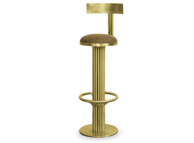 Living Room Designs with Brass Details counter stool essential home
