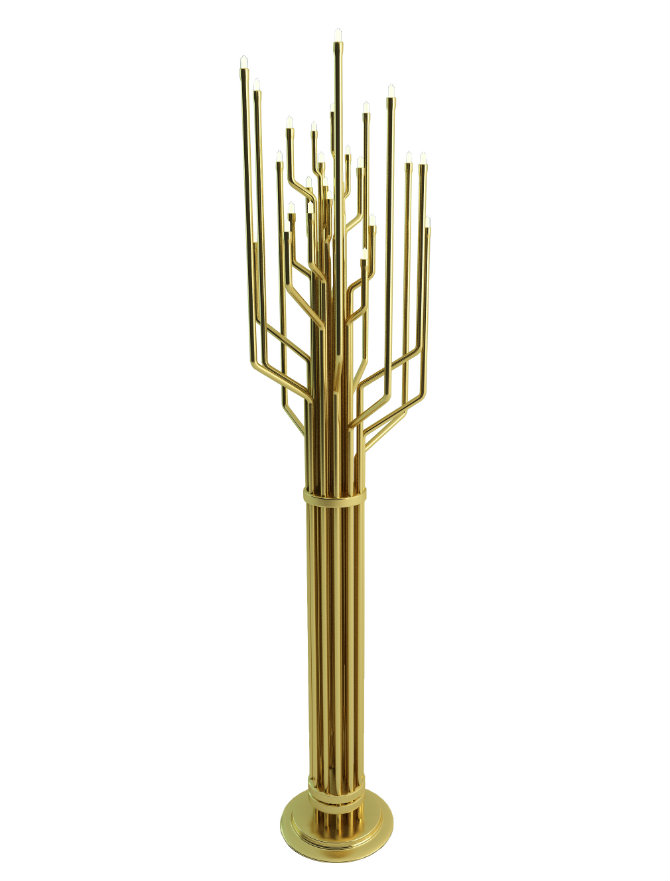 Living Room Designs with Brass Details janis floor lamp by delightfull
