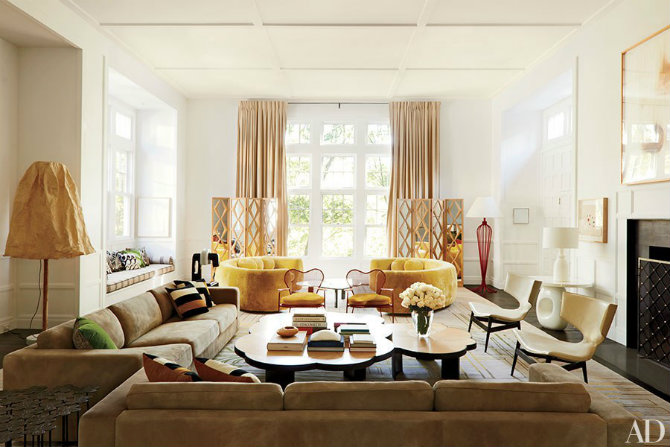 Living Room Ideas Inspired By The Best Interior Designers India Mahdavi  Brings Her Signature Style To