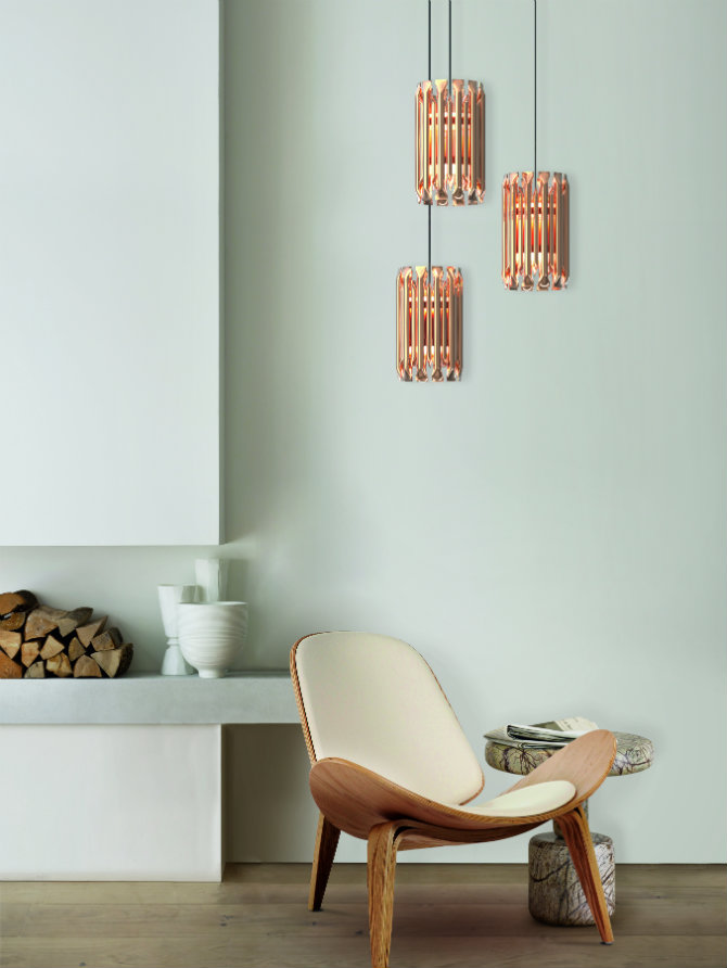The Most Incredible Living Room Ideas Using Copper matheny pendant by delightfull