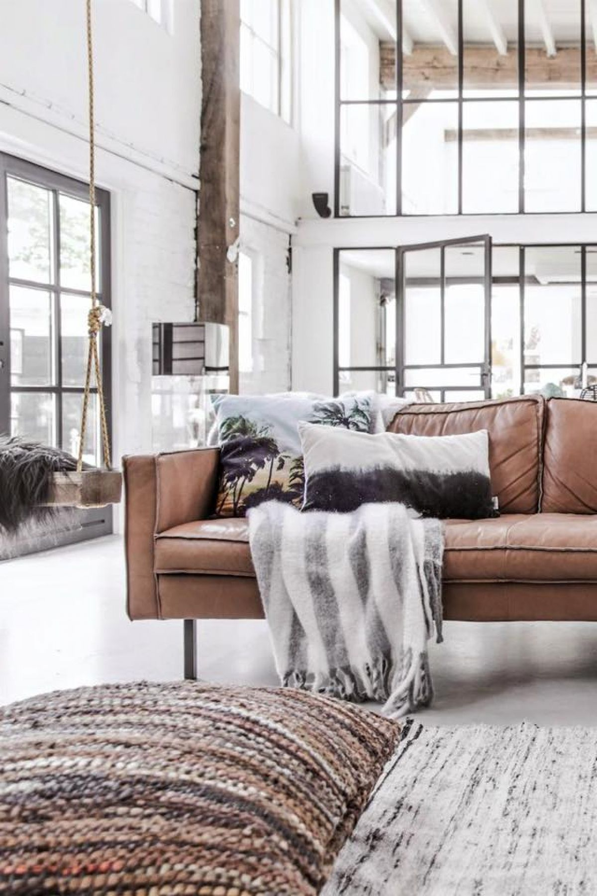 rug living room industrial style industrial interior Living room design: industrial interior rug living room industrial style