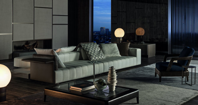 Contemporary italian furniture brands with minotti new project for