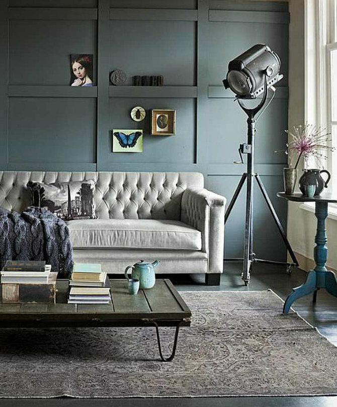 Feature floor lamps in your industrial style living room living room ideas