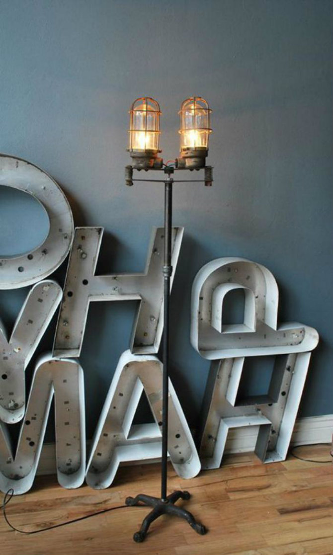 Feature floor lamps in your industrial style living area industrial floor lamp3