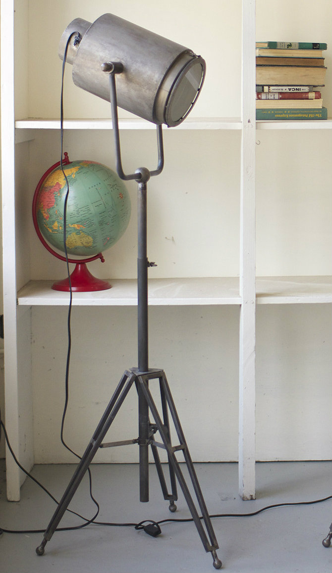 Feature floor lamps in your industrial style living area