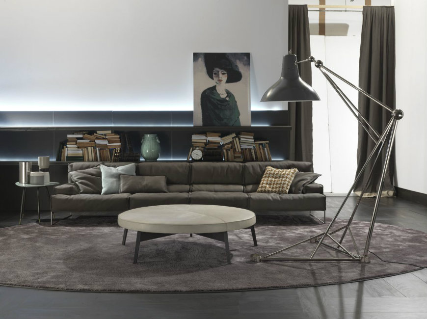 Feature Floor Lamps In Your Industrial Style Living Room