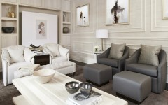 Beautiful living rooms before and after of a sophisticated family room 5