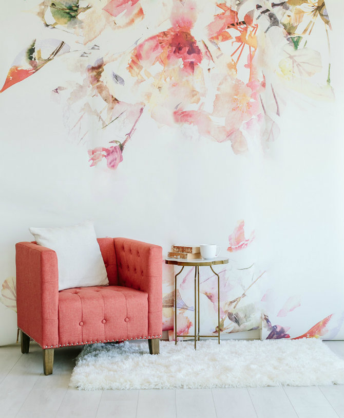 Floral Room Wallpaper: Pattern Wallpaper Solutions For Your Living Rooms Ideas