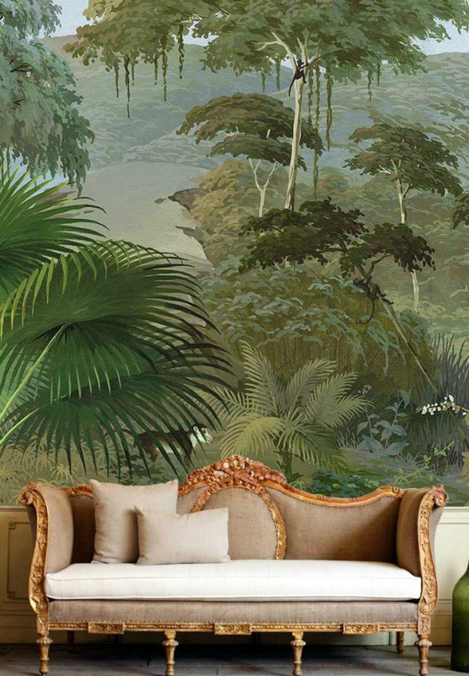 Tree Design Wallpaper Living Room: Pattern Wallpaper Solutions For Your Living Rooms Ideas