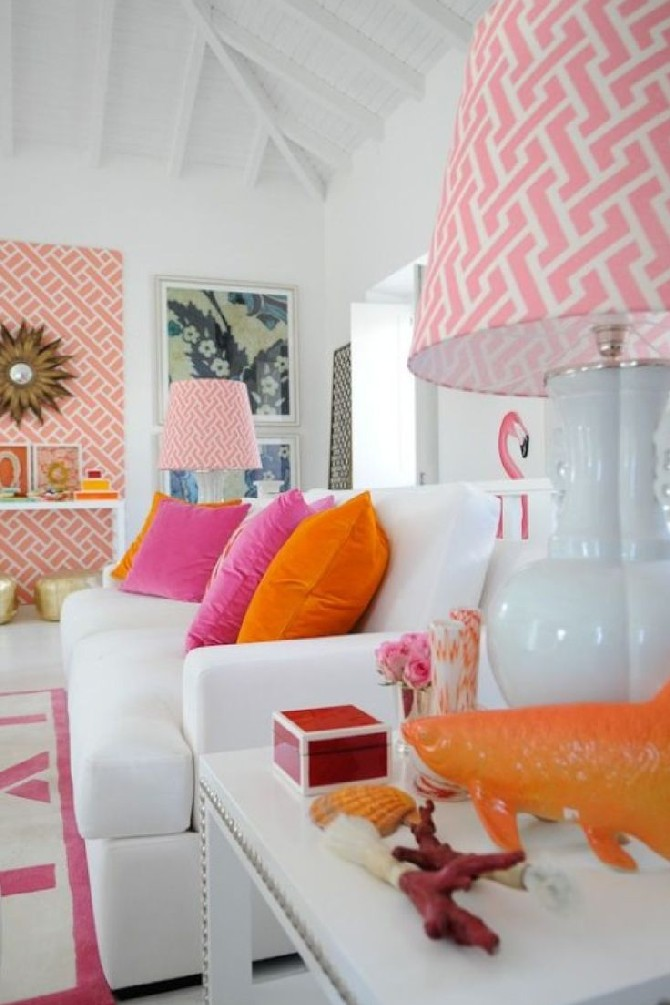 pink and orange to Use in Your Living Room 2 summer colors Summer Colors to Use in Your Living Room Summer Colors to Use in Your Living Room 2