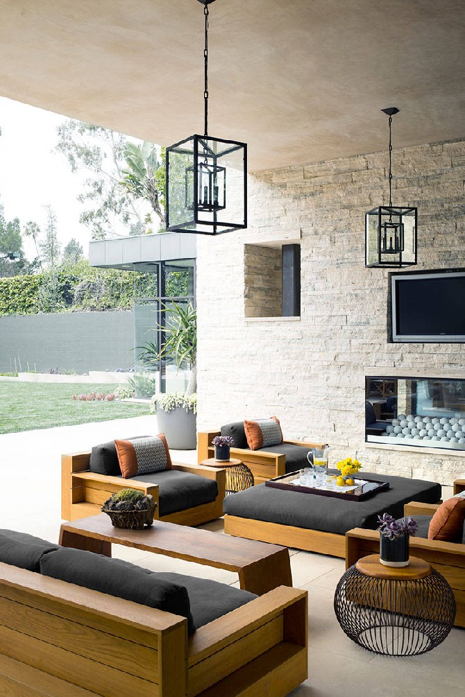 Summer Ideas Get Your Own Outdoor Living Room Rochelle Gores Fredstonu0027s  California Dream Home Outdoor Living