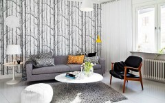 Pattern Wallpaper Solutions for Your Living Rooms Ideas