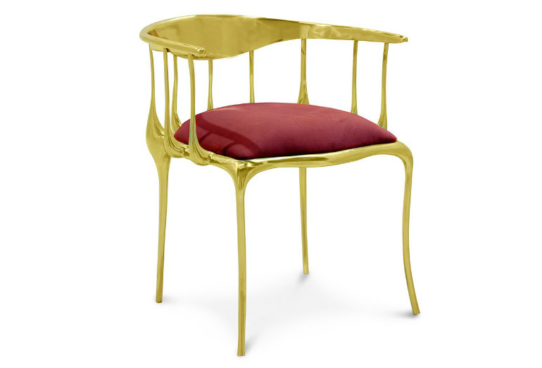 10 SummerEssentials for your Living Room Ideas Nº 11 CHAIR FROM BOCA DO LOBO Brass chair with red velvet seat summer essentials 10 Summer Essentials for your Living Room Ideas 10 Summer Essentials for your Living Room Ideas N   11 CHAIR FROM BOCA DO LOBO Brass chair with red velvet seat