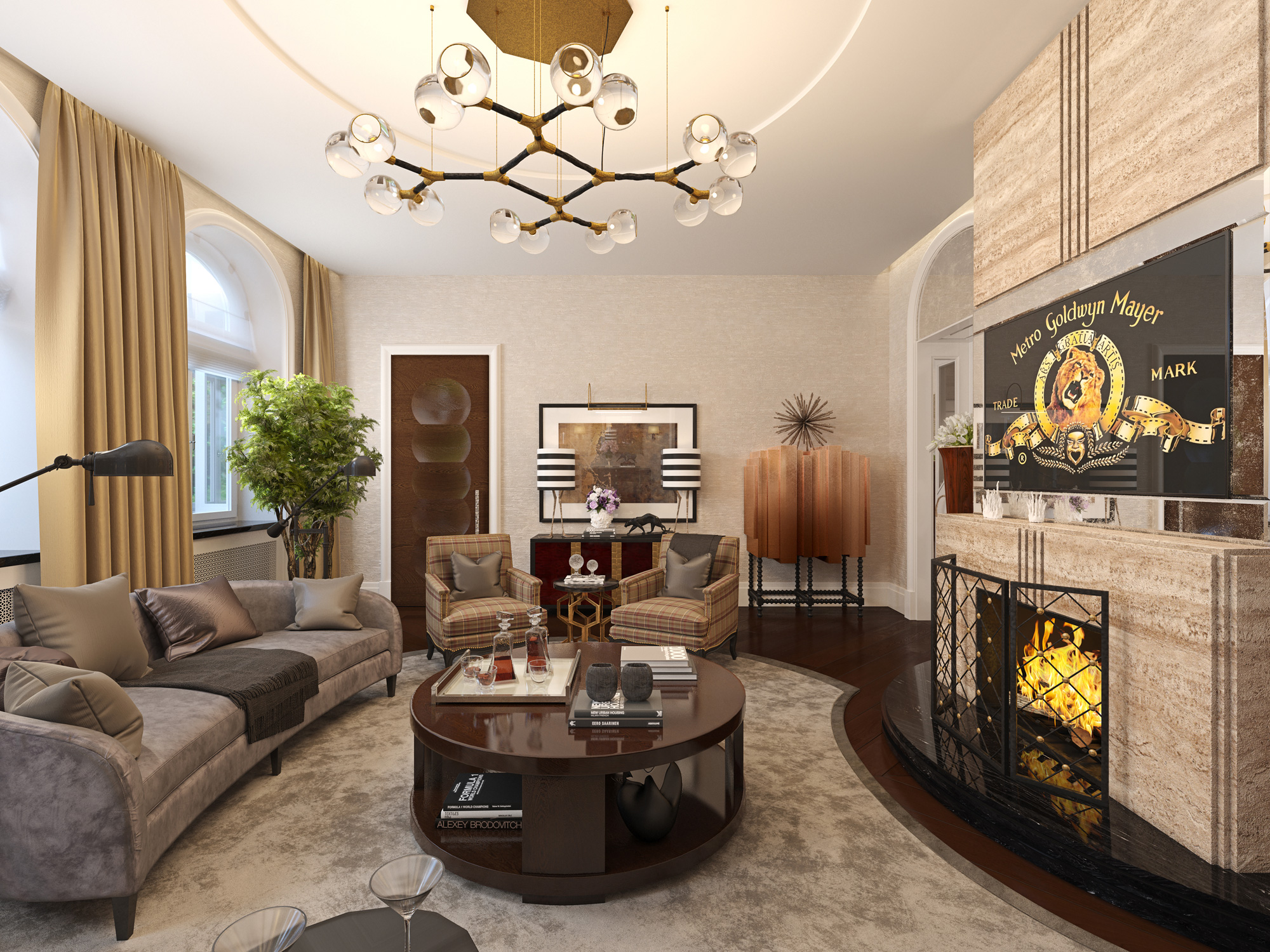 6 luxury living room ideas with incredible lighting for Exclusive living room designs