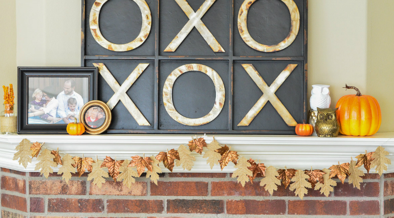 Welcome Fall into Your LivingRoom by Bringing the Outdoor In living room Welcome Fall into Your Living Room by Bringing the Outdoor In Burlap Bronze Fall Garland 12