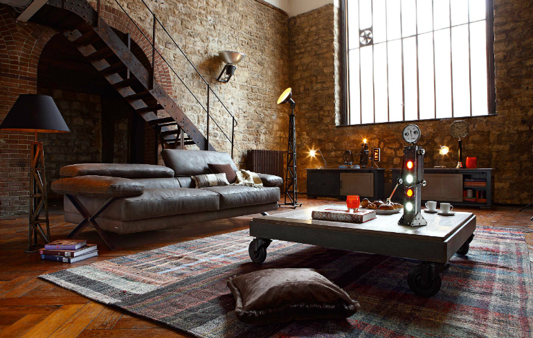 10 Industrial LivingRoomIdeas That You Will Love living room ideas 10 Industrial Living Room Ideas That You Will Love industrial design 8