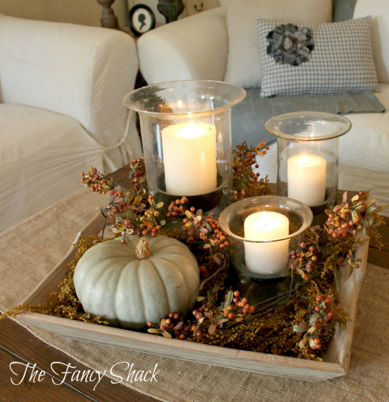 Welcome Fall into Your LivingRoom by Bringing the Outdoor In living room Welcome Fall into Your Living Room by Bringing the Outdoor In pastel pumpkin