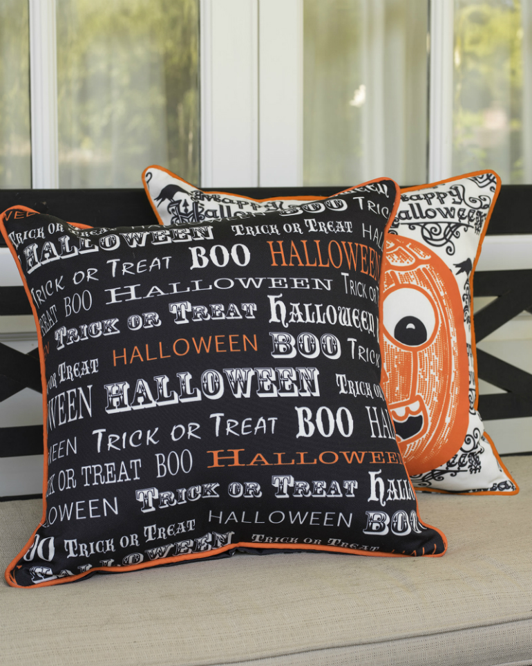 How to Transform Your LivingRoom for Halloween living room How to Transform Your Living Room for Halloween pillow letters kids