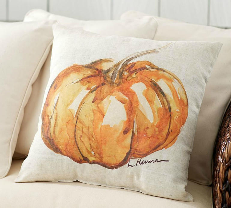 How to Transform Your LivingRoom for Halloween living room How to Transform Your Living Room for Halloween pillow pumpkin
