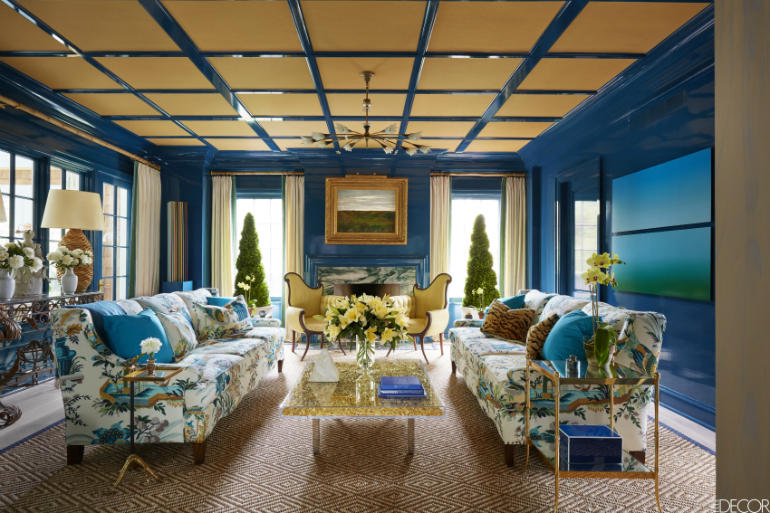 The Best Colors for Your LivingRoom this Fall living room The Best Colors for Your Living Room this Fall royal blue