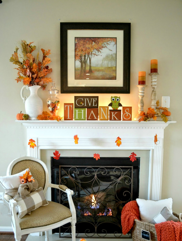 Get your Living Room Ready for Thanksgiving thanksgiving Get your Living Room Ready for Thanksgiving thankful mantel