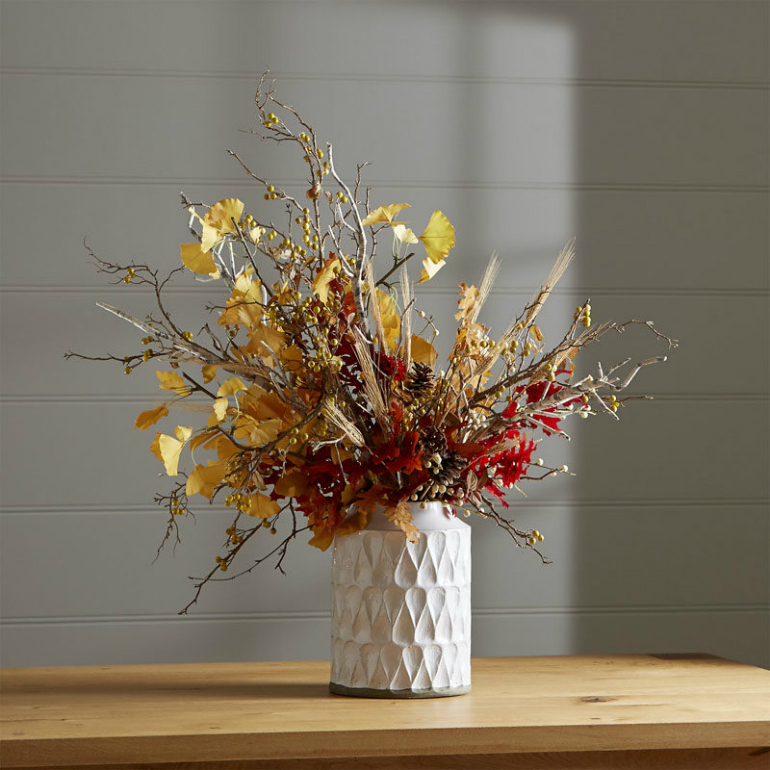 Welcome Fall into Your LivingRoom by Bringing the Outdoor In living room Welcome Fall into Your Living Room by Bringing the Outdoor In vase twigs