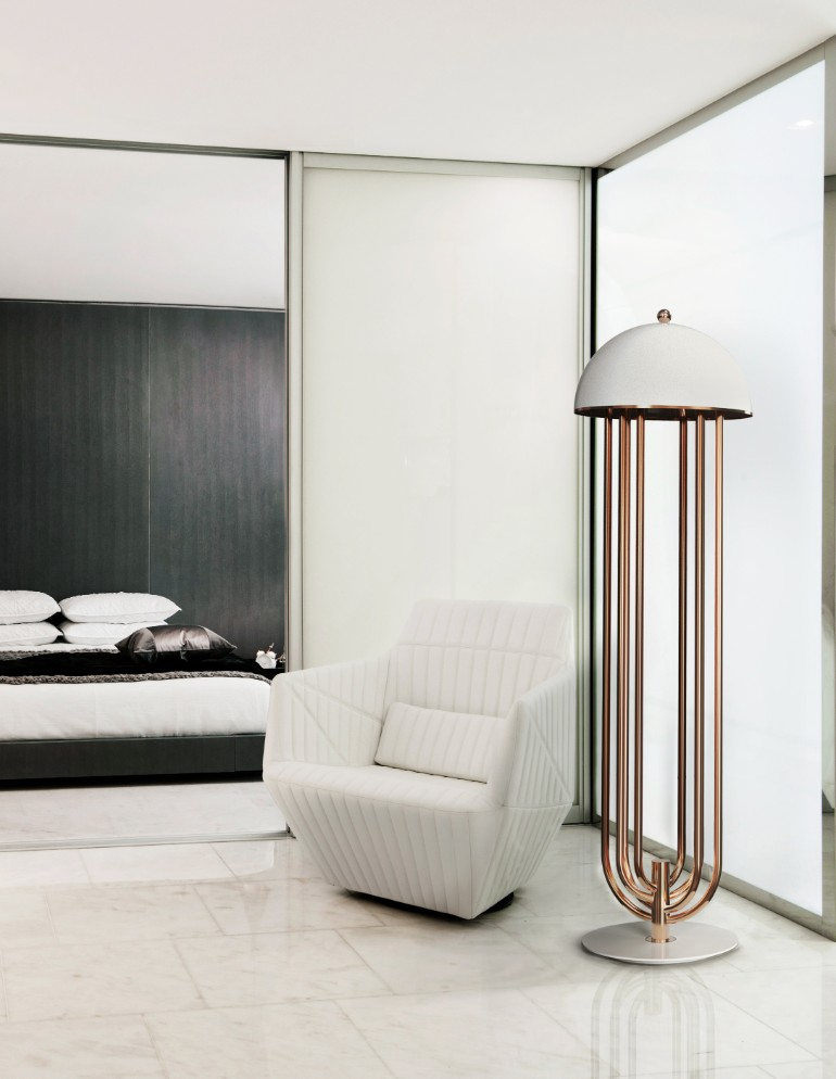 6 modern floor lamps for the ultimate modern living room for Modern floor lamps living room