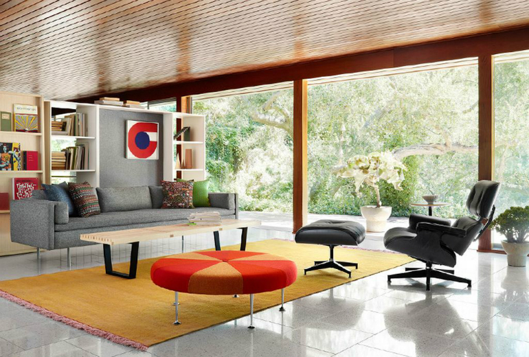 Living Room Essentials Eames Lounge Chair and Ottoman Living Room