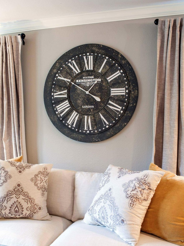 Elevate Your Living Room Design by Using Clocks – Living ...