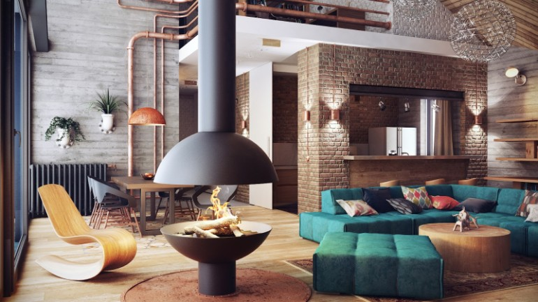 Industrial Living Rooms with Eccentric Brick Walls brick walls Industrial Living Rooms with Eccentric Brick Walls Industrial Living Rooms with Eccentric Brick Walls 8