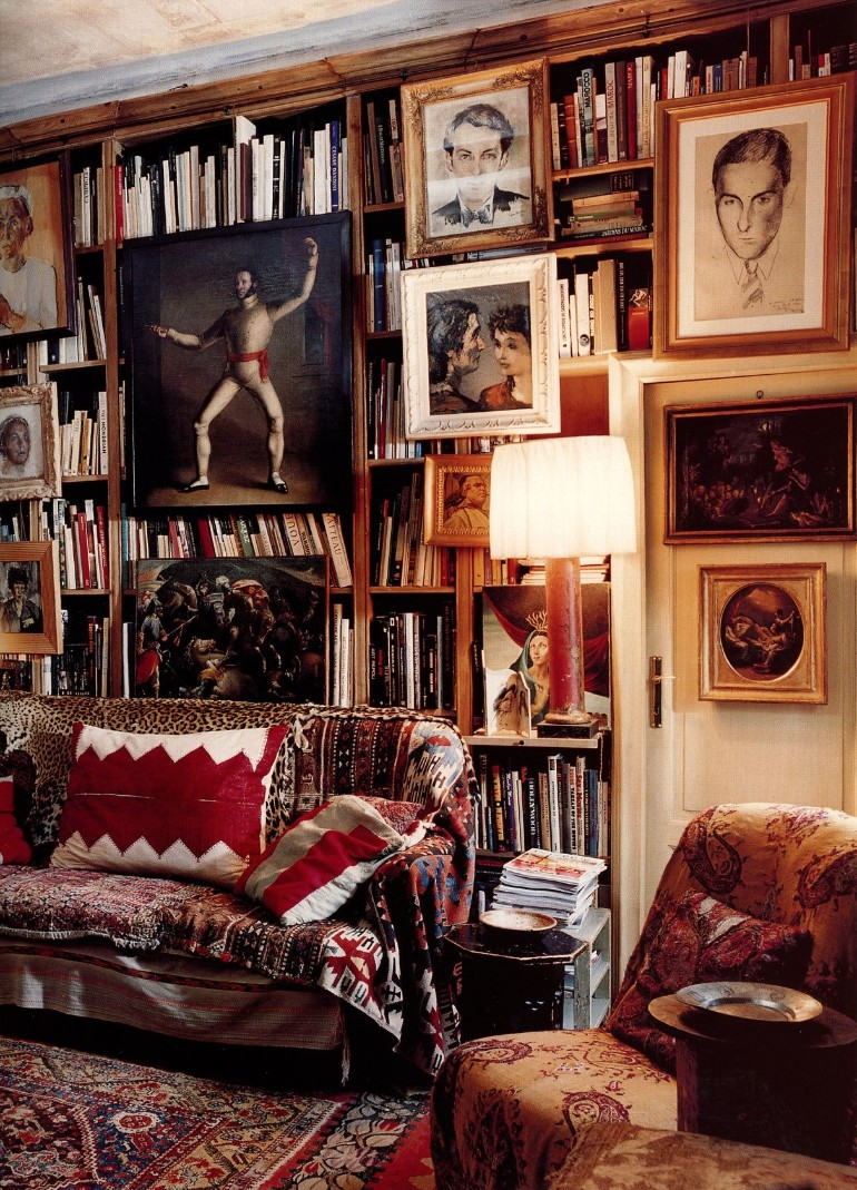 Make A Living Room A Library: Living Room Ideas: Vintage Home Libraries