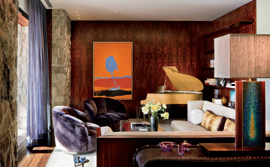 Jennifer Aniston's Mid-Century Modern Living Room in Beverly Hills