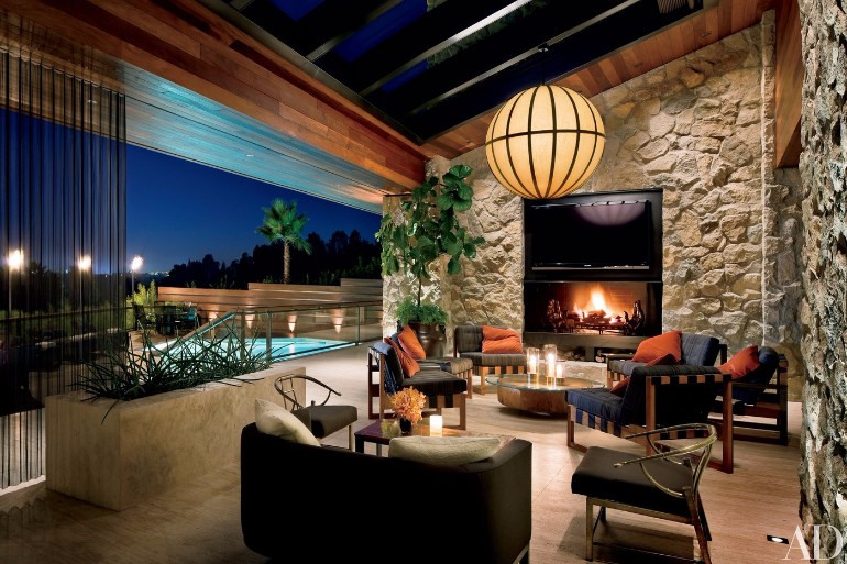 Jennifer Aniston's Mid-Century Modern Living Room in Beverly Hills