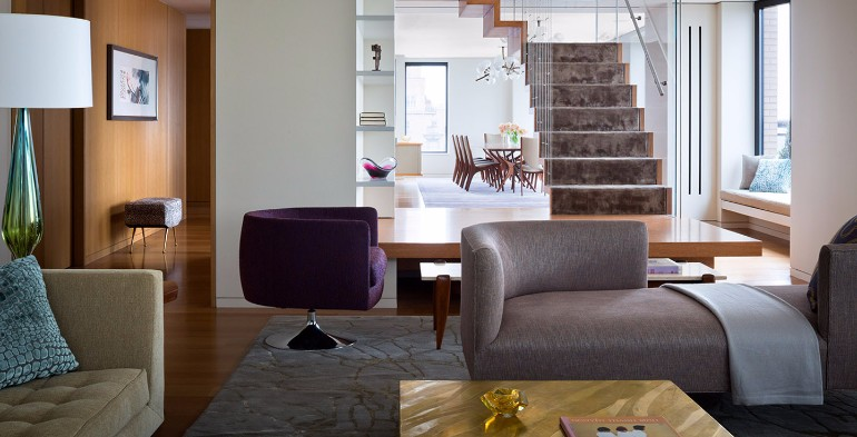 Discover Steven Harris' Modern Living Room in Central Park West