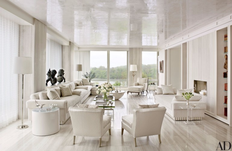 Fall In Love With These Luxury White Living Rooms Living