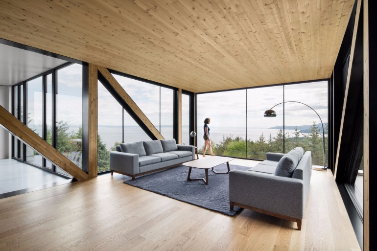 Living Room Inspiration: Modern Home Captures Stunning Views in Canada living room inspiration Living Room Inspiration: Modern Home Captures Stunning Views in Canada Modern Home Captures Stunning Views From A Cantilevered Living Room 4