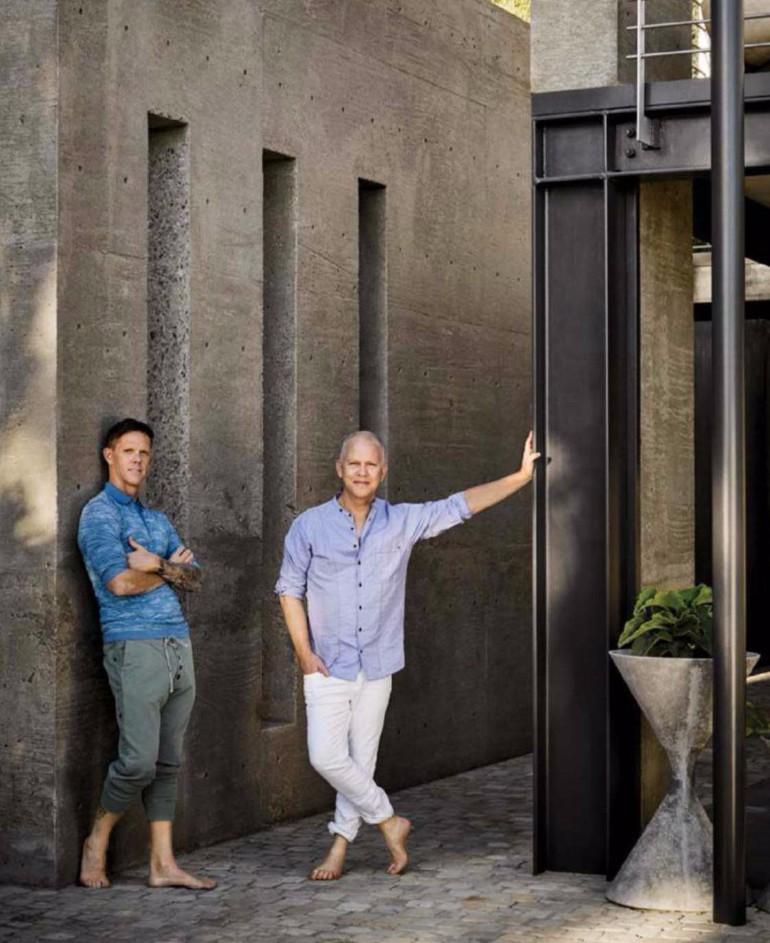 Ryan Murphys Mid Century Modern Living Room In Laguna