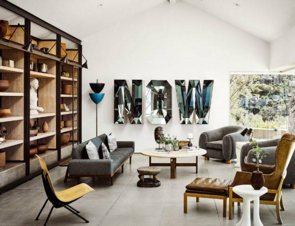Ryan Murphy's Mid-Century Modern Living Room in Laguna Beach FEAT