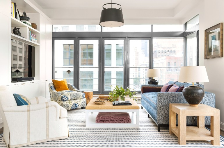 living room inspiration Living Room Inspiration: Manhattan Apartment Filled with Pattern Living Room Inspiration Manhattan Apartment Filled with Pattern 5