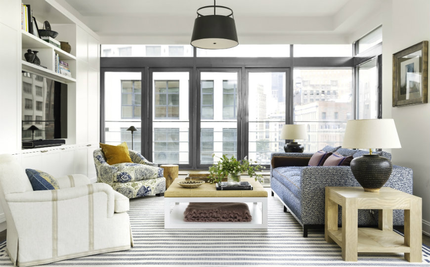 Living Room Inspiration: Manhattan Apartment Filled with Pattern