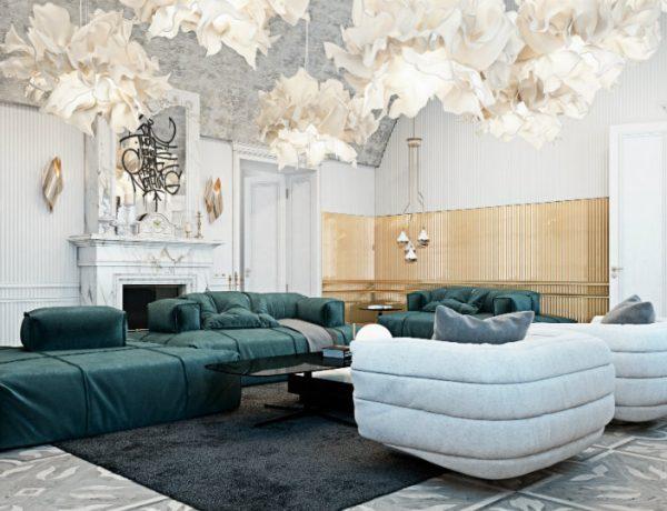 Luxury Living Room in Italian Contryside FEAT