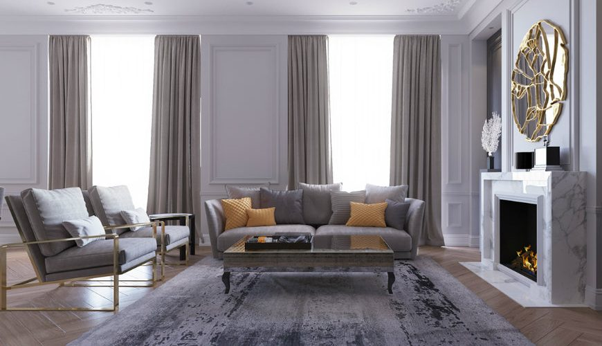 Luxury Living Room in Moscow Shining with Stunning Lighting Designs FEAT
