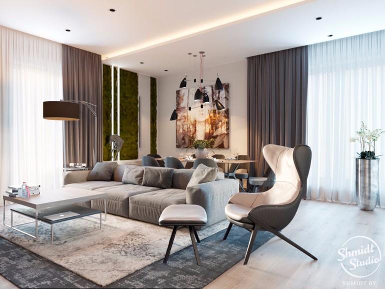 Stunning Open Plan Living Room with DelightFULL Lighting ...