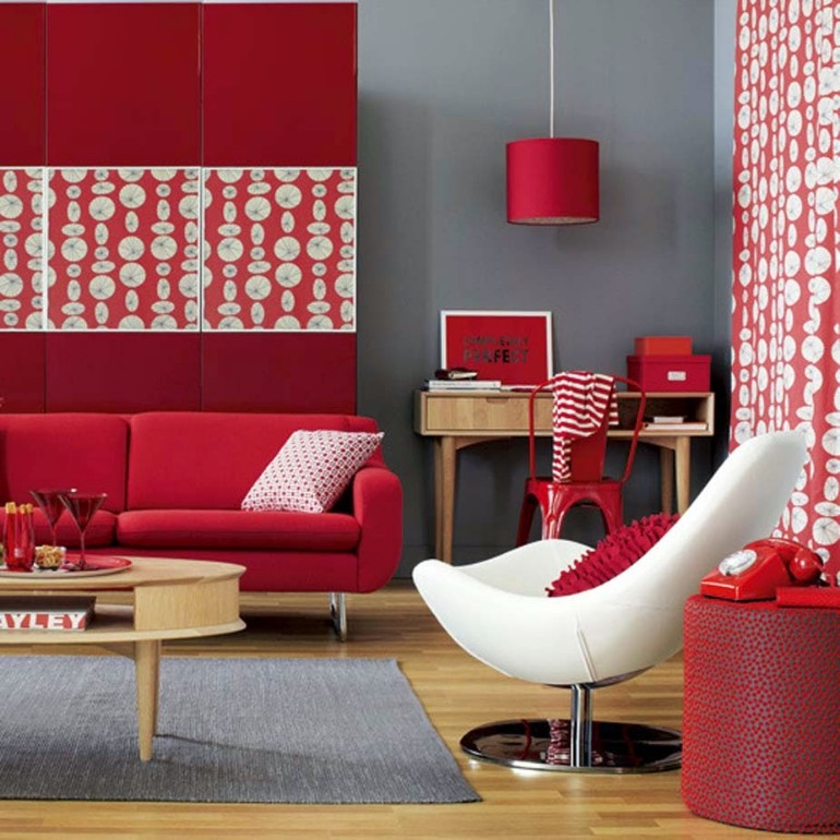 10 GORGEOUS RED ACCENT LIVING ROOMS living rooms 10 Gorgeous Red Accent Living Rooms 10 GORGEOUS RED ACCENT LIVING ROOMS12