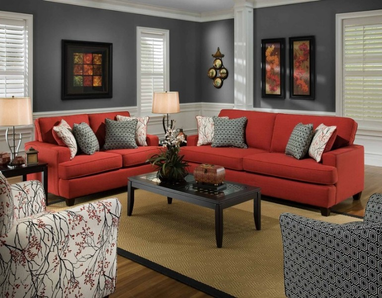 10 Gorgeous Red Accent Living Rooms Living Room Ideas