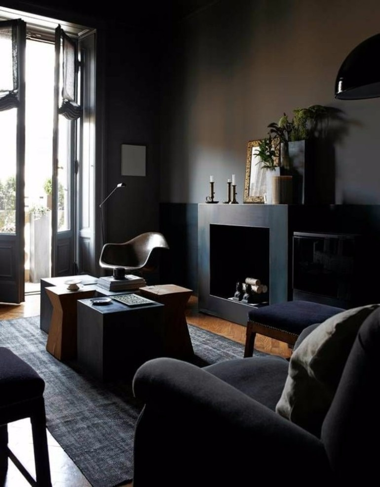 BLACK LIVING ROOMS IDEAS & INSPIRATION living rooms Black Living Rooms Ideas & Inspiration BLACK LIVING ROOMS IDEAS INSPIRATION8