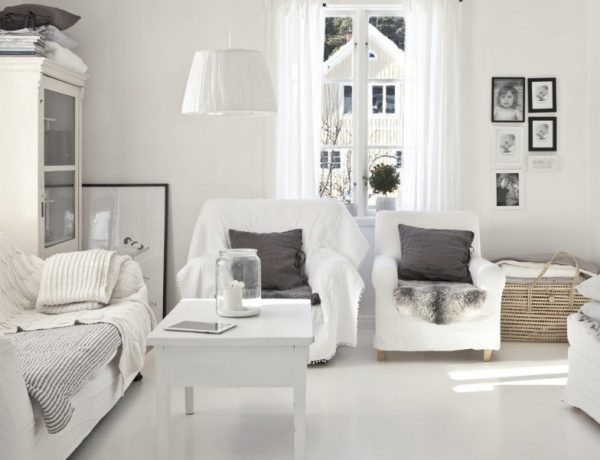 White Living Room Furniture Design Ideas