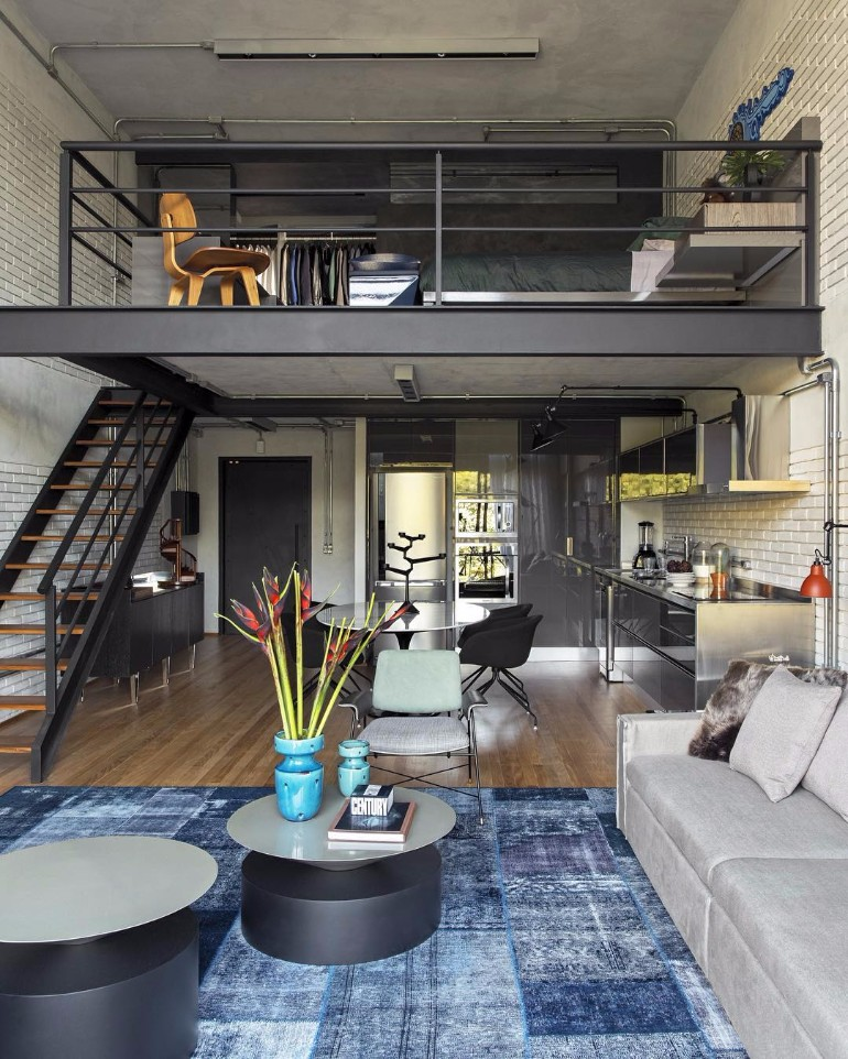 Loft Apartment: 10 Loft-Style Living Room Design Ideas