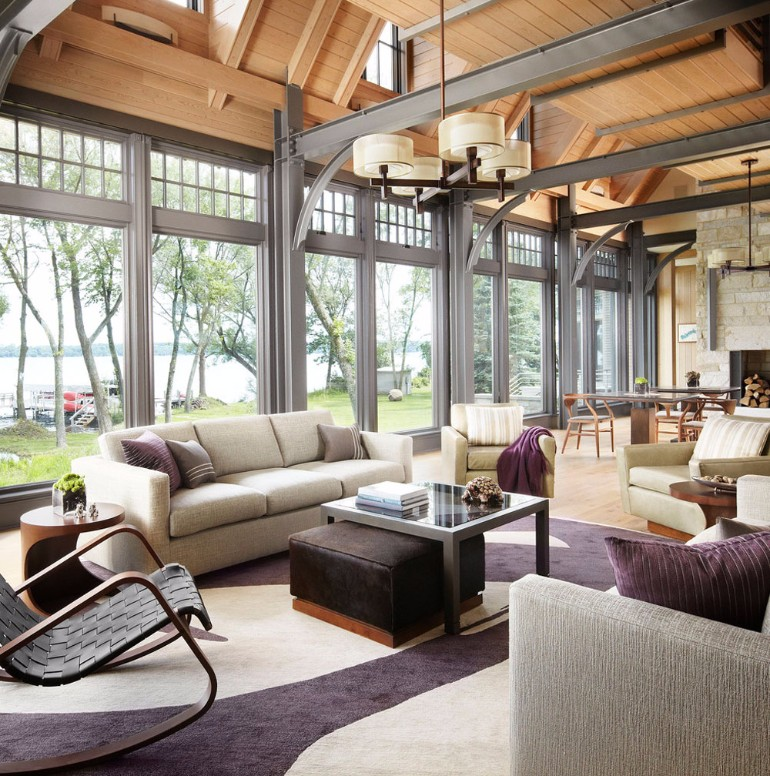 A Lake House Living Room living room A Lake House Living Room A Lake House Living Room3