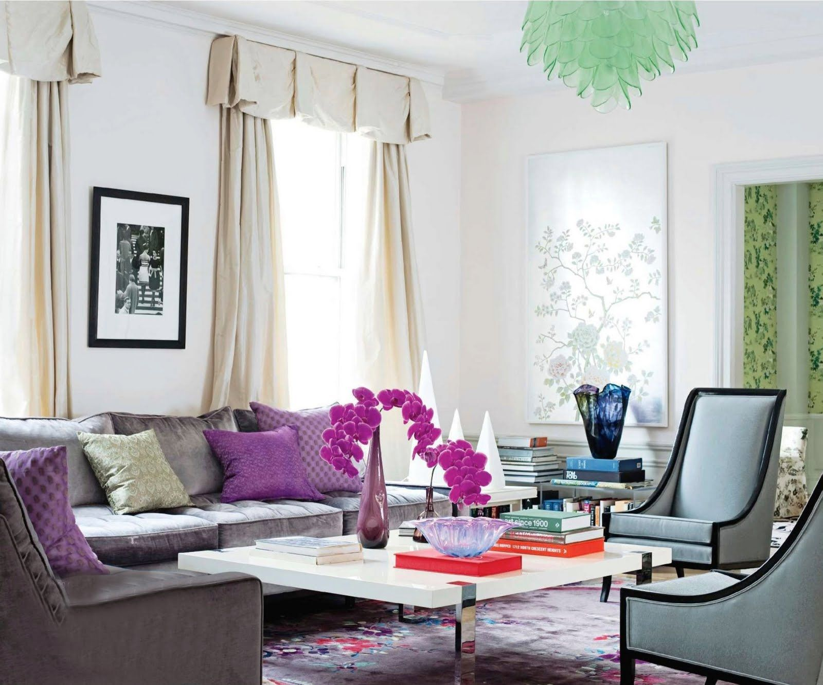Purple Living Room Furniture Catchy Living Rooms Designs With Purple Living Room Ideas